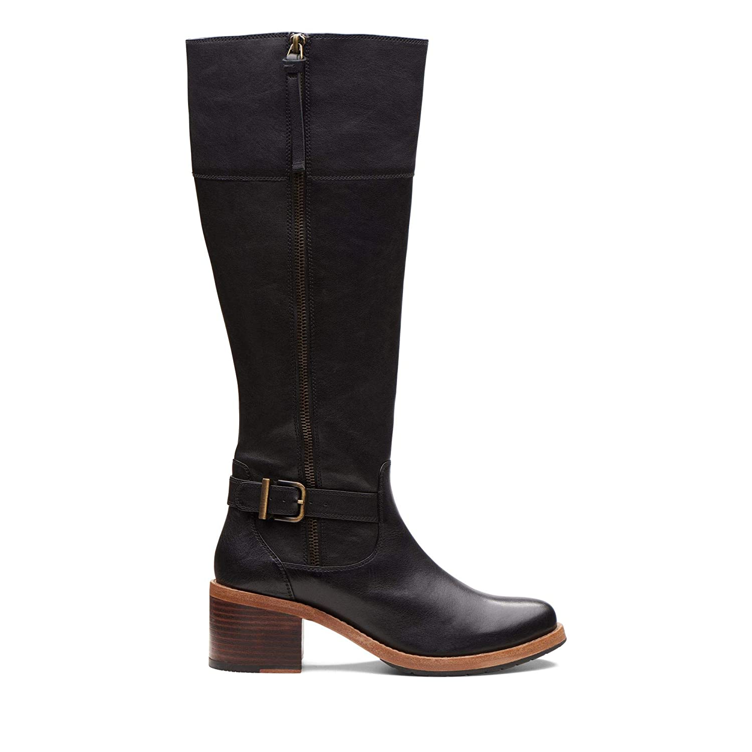395ead831ed Clarks Clarkdale Sona Leather Boots in Black  Amazon.co.uk  Shoes   Bags
