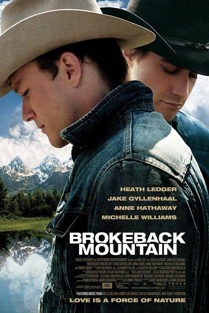 "/""Brokeback Mountain/""..Heath Ledger.. Classic Movie Poster Various Sizes"