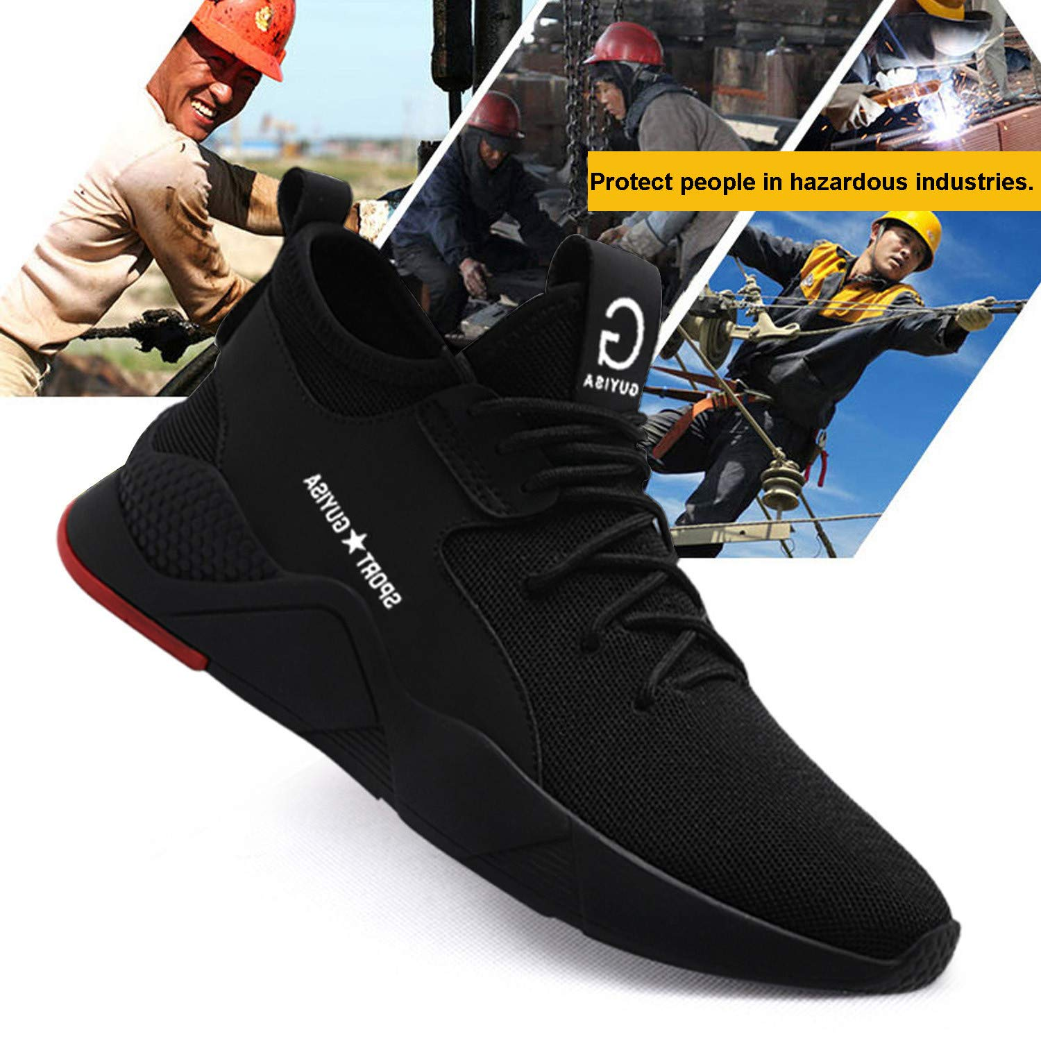 Mens//Womens Lightweight Safety Shoes Steel Toe Cap Work Boots Trainers Shoes