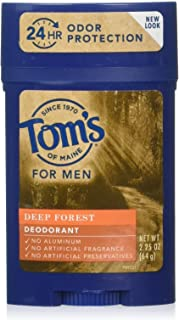 product image for Tom's of Maine Men's Long Lasting Wide Stick Deodorant, Deodorant for Men, Natural Deodorant, Deep Forest, 2.25 Ounce, 1-Pack