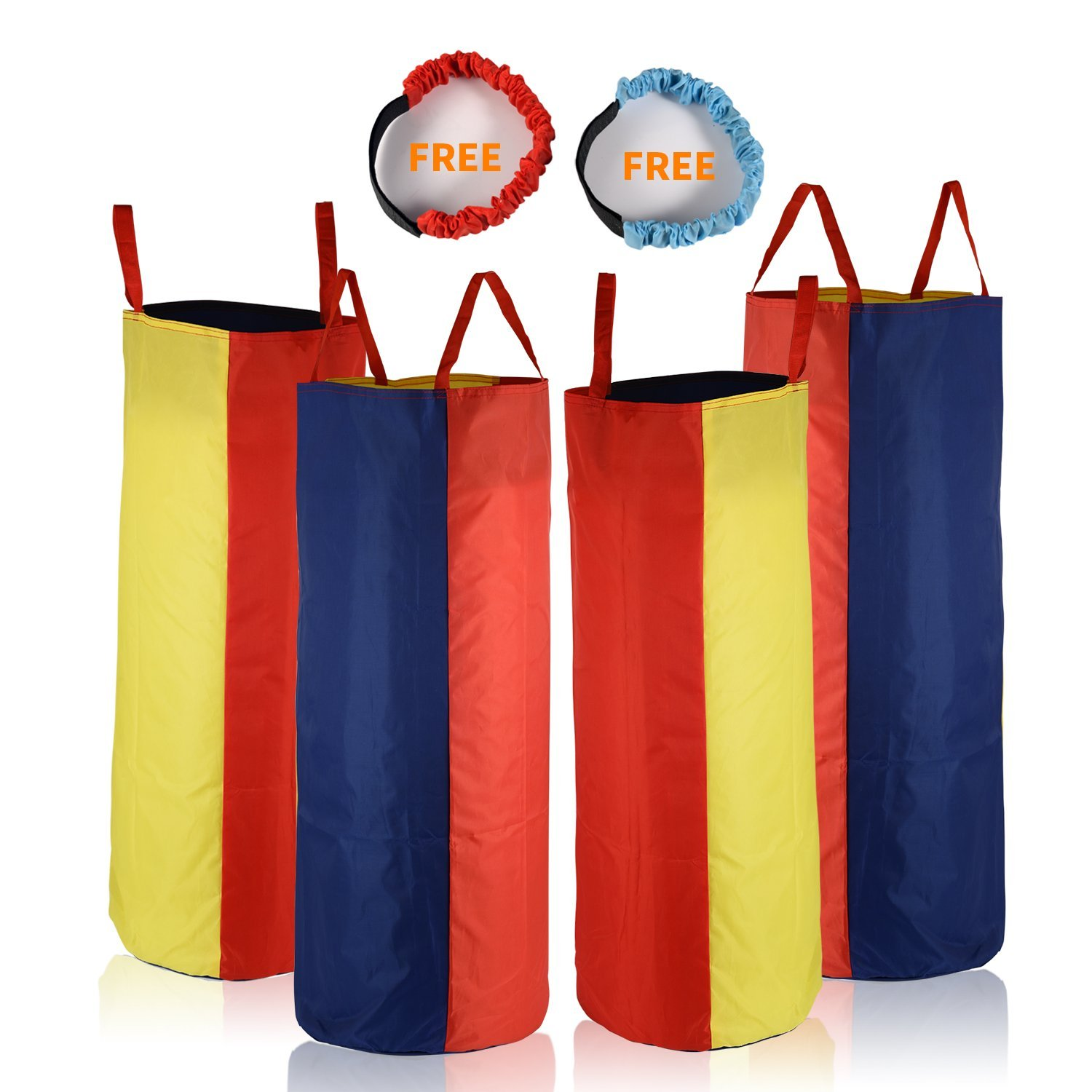 Sumapner Potato Sack Race Bags 34'' Hx20 W(Pack of 4) Three-legged Race Outdoor Activities Family Gatherings Games