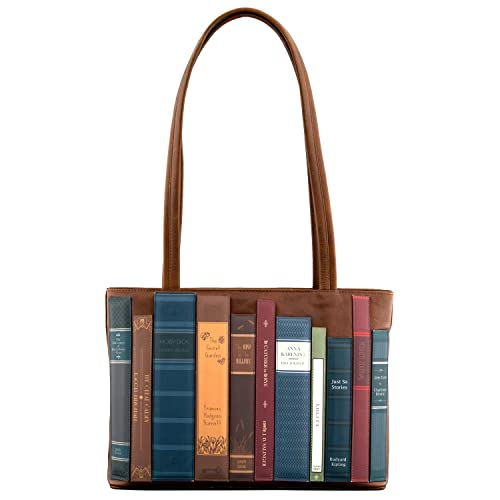d376f7fc0529 Bookworm Library Applique Leather Shoulder Bag by Yoshi (Brown ...