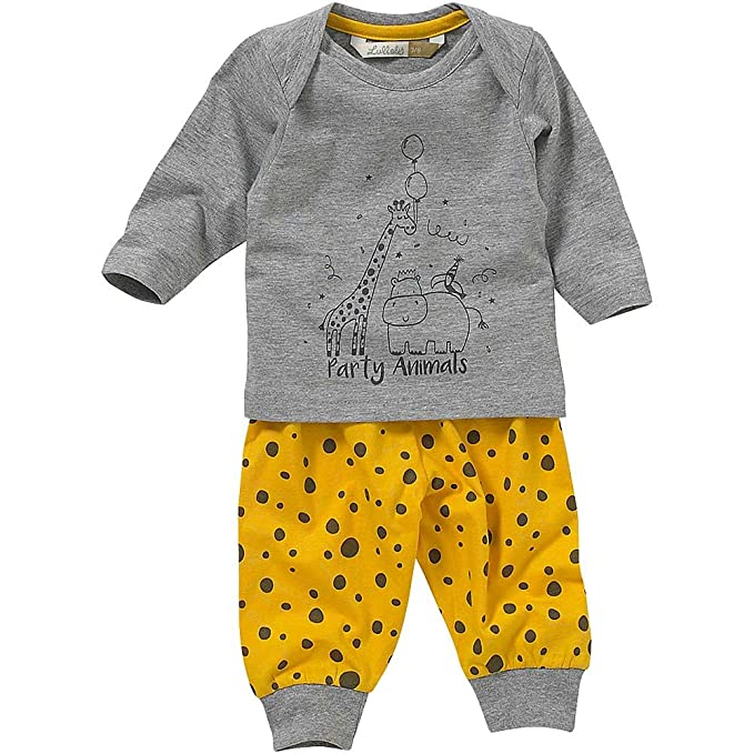 Lullaby Baby Boys Cute Sleepy Awake Face Striped Pyjamas