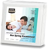 Amazon Price History for:Zippered Box Spring Encasement Ample Zipper Opening for Easy Use - Bed Bug & Water Resistant Cover, Ultimate Protection Against Insects, Dust Mites and Allergens (Queen) by Utopia Bedding
