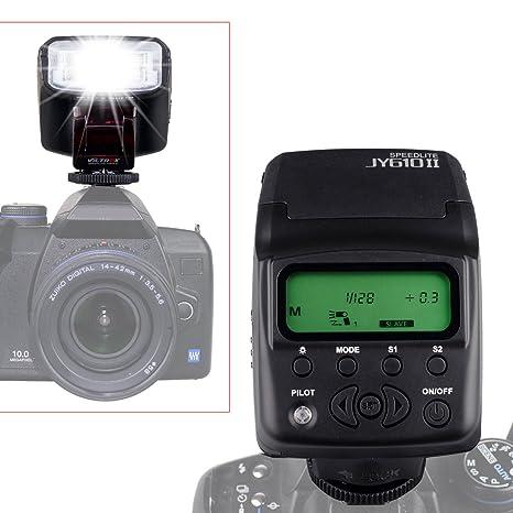 Viltrox JY-610 II Mini Pantalla LCD Flash en la cámara Speedlite ...