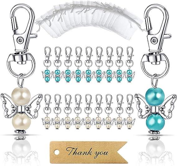 Silver Angel Girl Keychain Rhinestone Crystal Tinkerbell Ring Cute Gift 01220