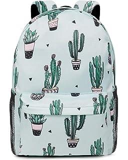cddc637ee2 Oflamn Zaino Scuola Superiore Media Ragazza Zaino Pc 14 Pollici Leggero -  Floral School Backpack (