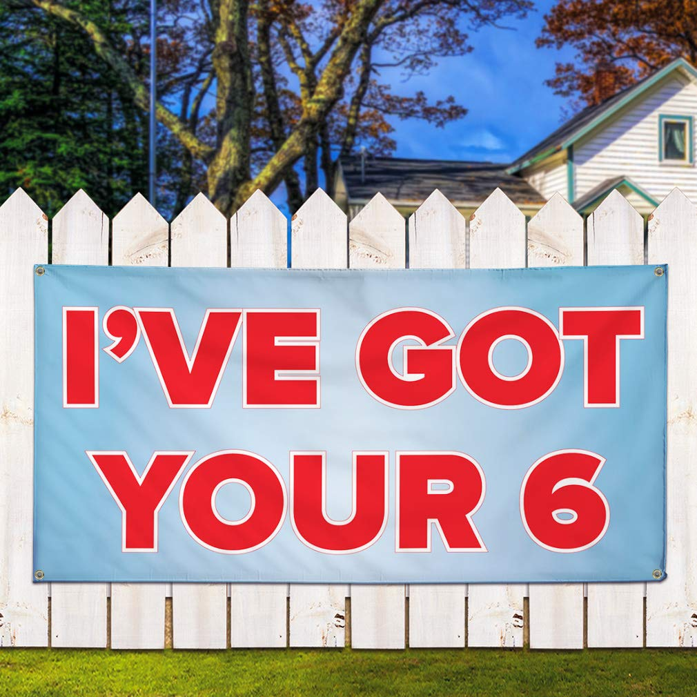 Set of 2 Vinyl Banner Sign Ive Got 6 Your Lifestyle Policemen Matters Marketing Advertising Blue 32inx80in Multiple Sizes Available 6 Grommets