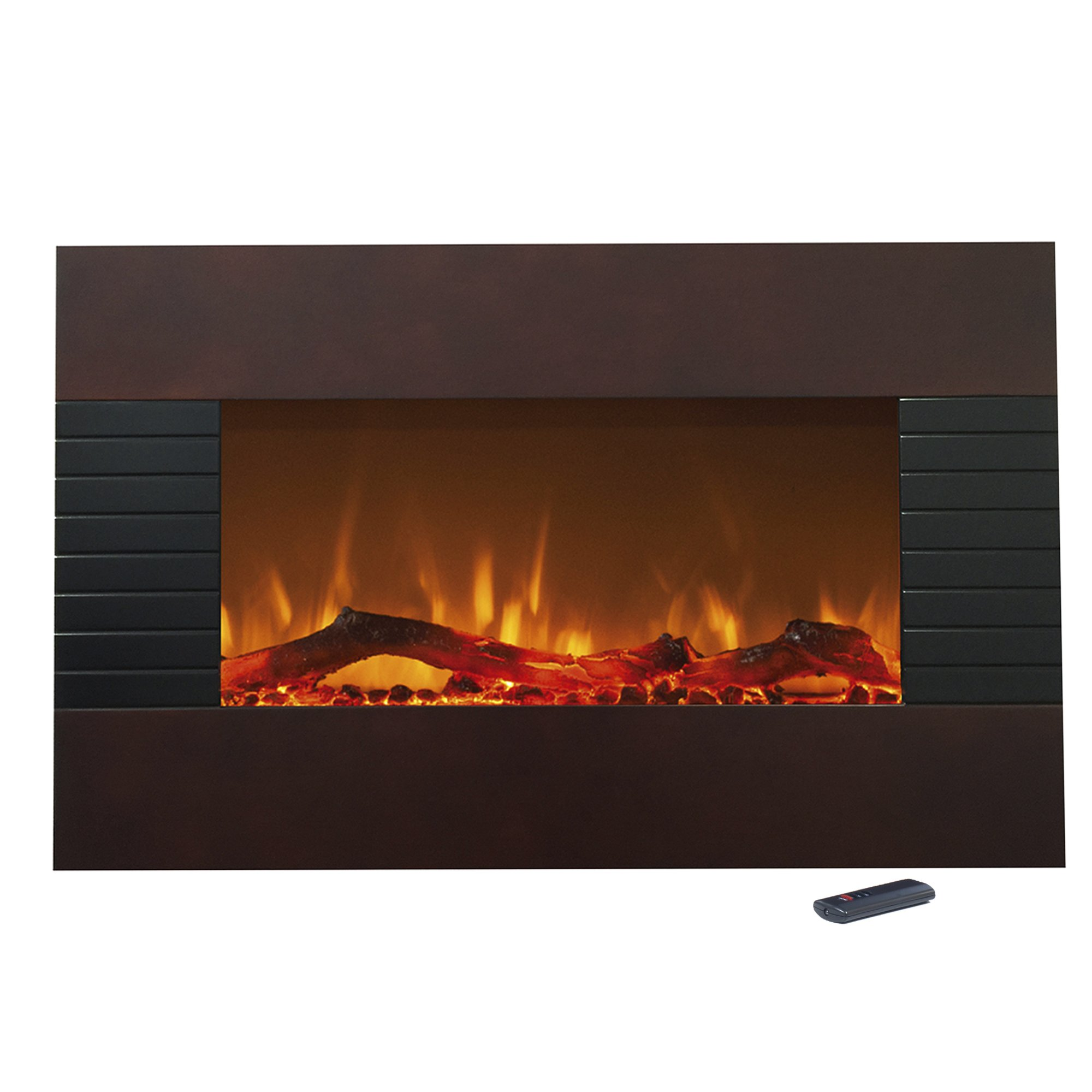 Northwest 80-422S Mahogany Fireplace With Wall Mount & Floor Stand, 36'' by Northwest (Image #2)