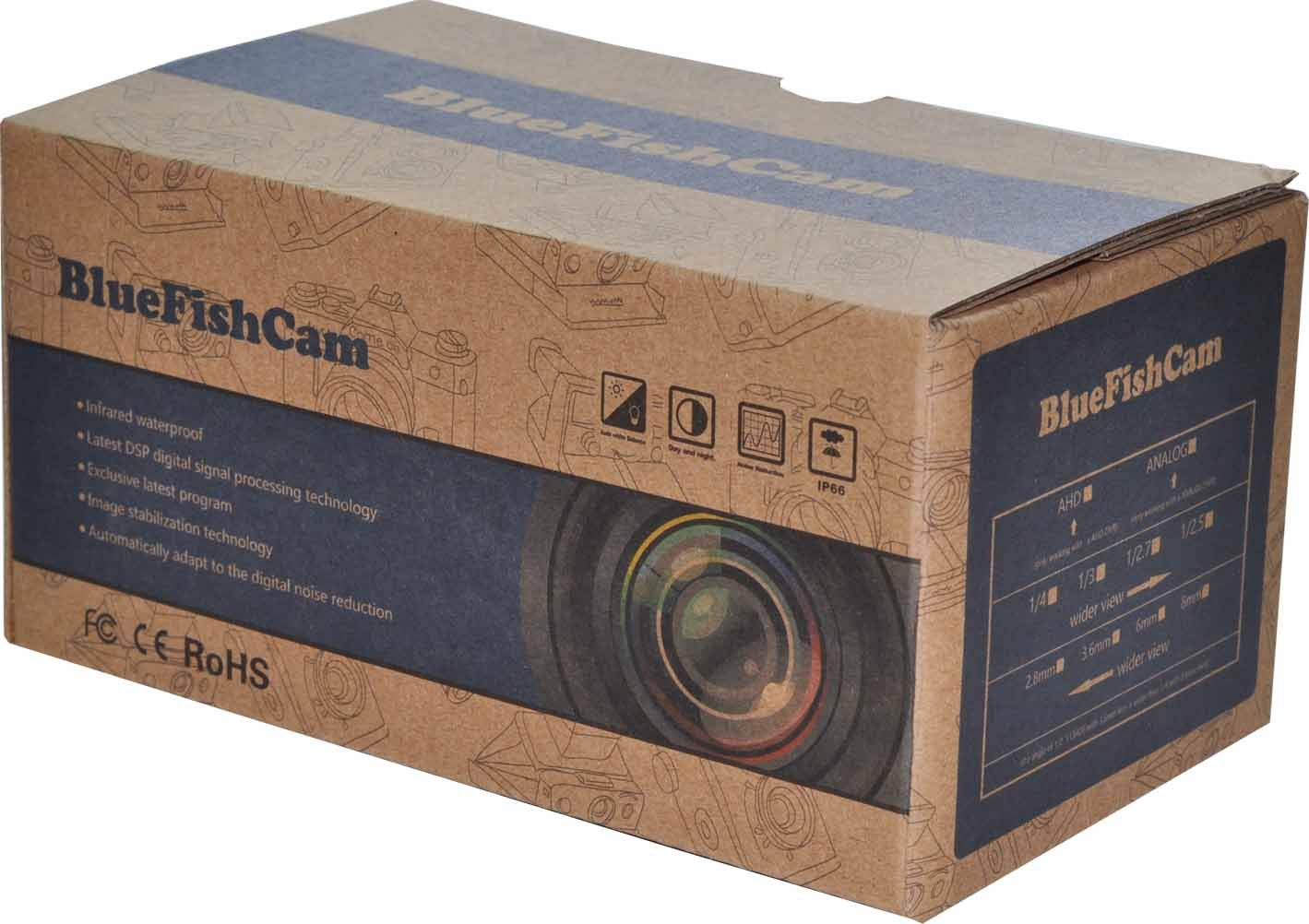BlueFishCam Lens 3.6mm Cmos 800TVL CCTV Camera 36 LEDs Infrared Waterproof with IR-Cut Color Analog Security Camera 864173