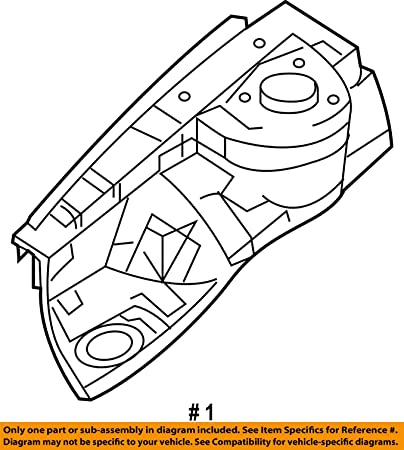 Genuine Hyundai 64501-2M000 Fender Apron Panel Assembly
