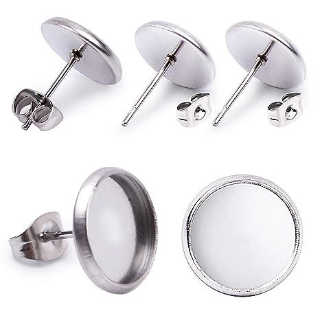 Amazon.com: Jdesun 40 piezas de acero inoxidable pendientes ...