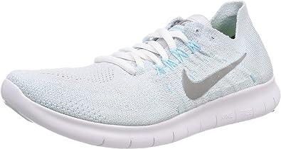 Nike Damen WMNS Free RN Flyknit 2017 Laufschuhe, Grau (Pure