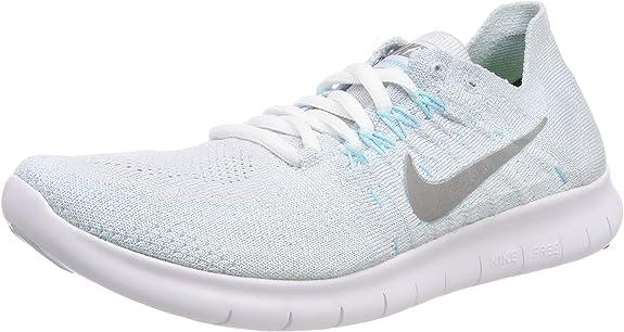 Amazon Com Nike Womens Free Rn Flyknit 2017 Running Shoe Pure Platinum Metallic Silver 8 5 Road Running