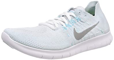super popular 81f0a 6d6cd Nike WMNS Free RN Flyknit 2017, Chaussures de Running Femme, (Platine Pur  Glacier