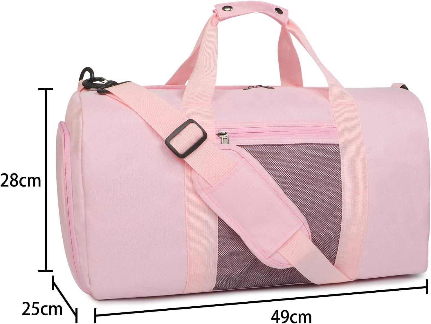 Sports Gym Bag Oflamn Bolsa de Viaje Bolsa Fin de Semana 1.0 Negro Bolsa de Deporte con Compartimento Zapatos para Mujeres y Hombres