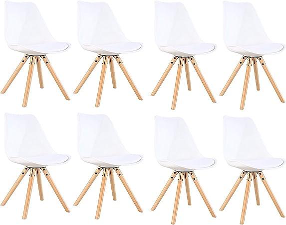 BesterStuhl Set di 4 sedie da Cucina Imbottite in Pelle
