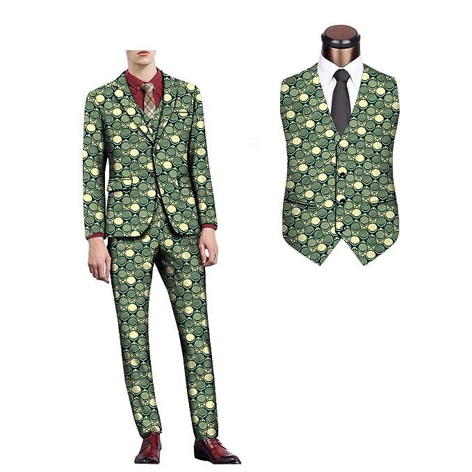 Amazon.com: Chaqueta + chaleco + pantalón para hombre ...