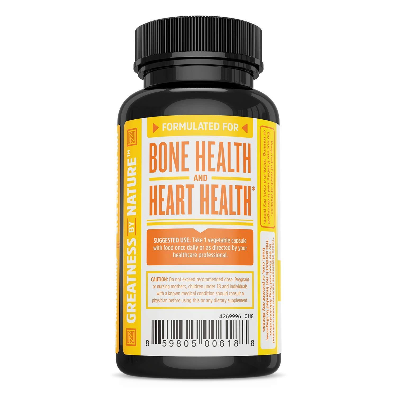 Vitamin K2 (MK7) with D3 Supplement - Vitamin D & K Complex - Bone and  Heart Health Formula -