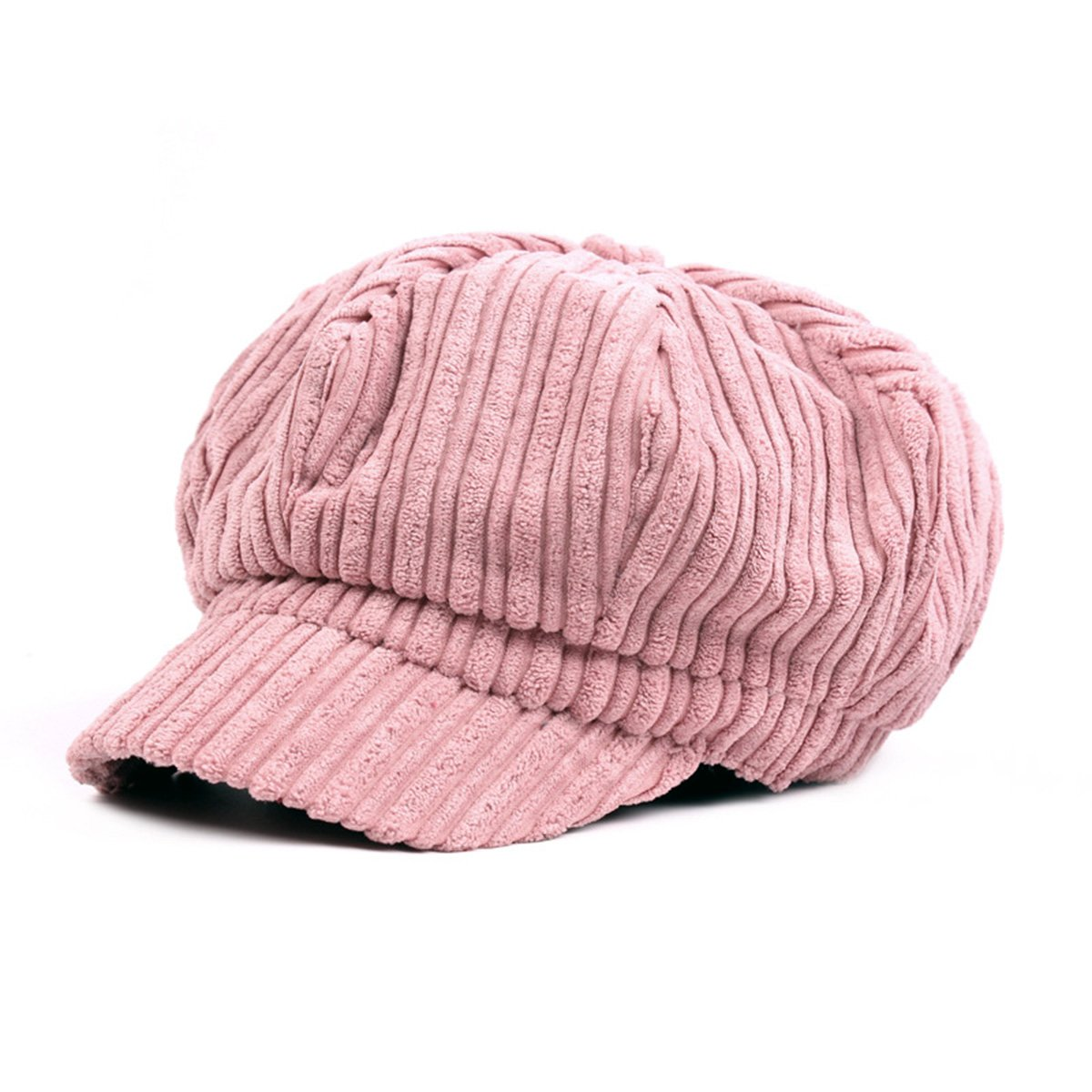 ZLSLZ Womens Corduroy Striped Octagonal Ivy Newsboy Cabbie Gatsby Painter Hats Caps For Women
