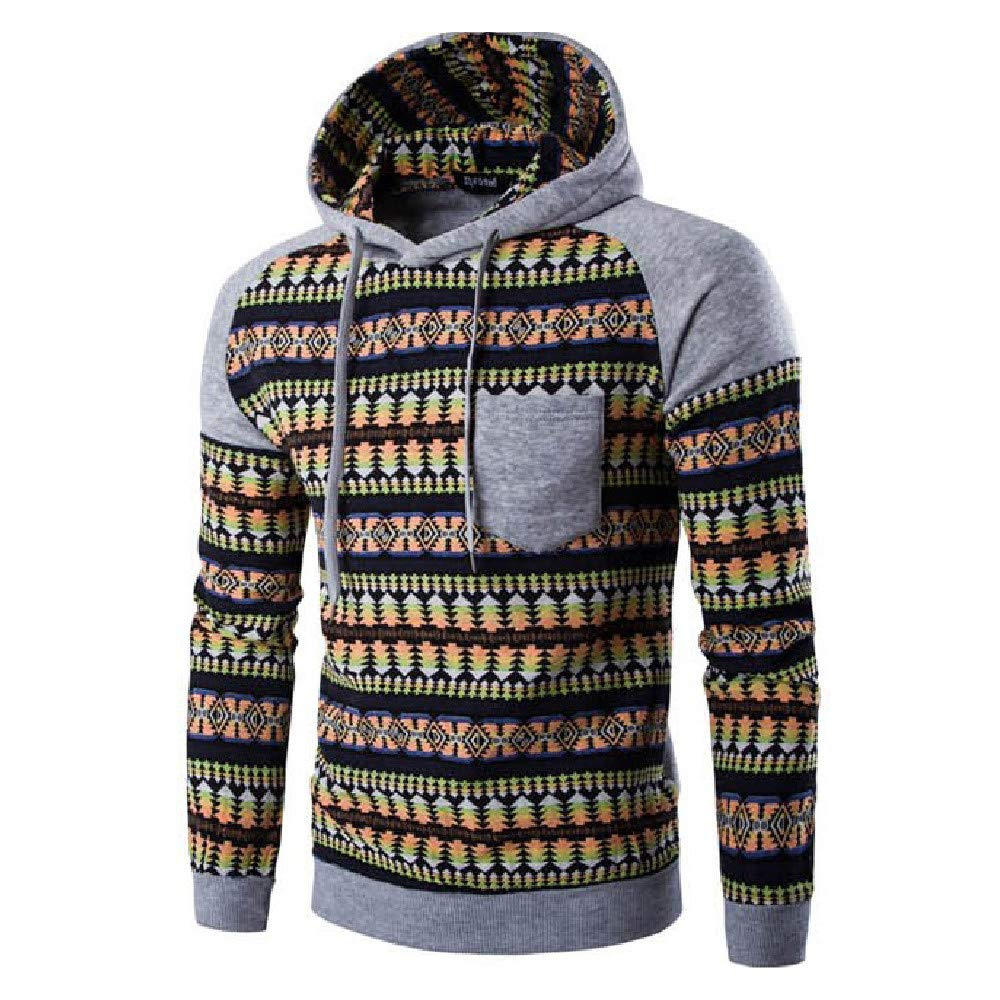 NRUTUP Mens Camouflage Sweater, Men's Pullover EcoSmart Fleece Hooded Sweatshirt NRUTUP-mens tops