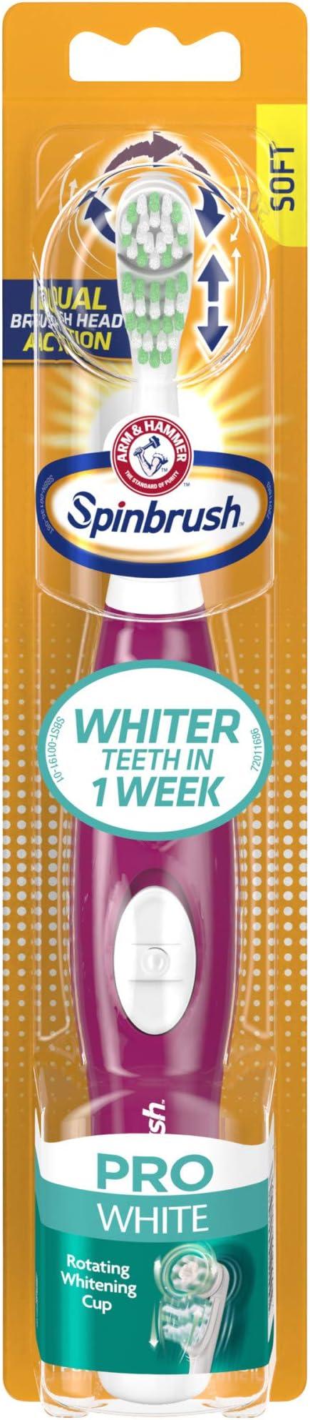 Arm & Hammer Spinbrush Pro White Battery Toothbrush