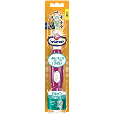 Spinbrush Pro Battery Powered Toothbrush, Soft (Colors May Vary)