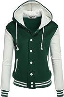 Zeagoo Women's Fleece Varsity Baseball Hoodie Jacket