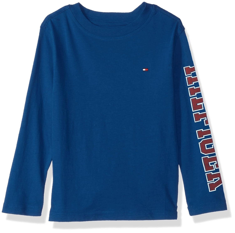 72c8f2dc28f9 Amazon.com: Tommy Hilfiger Boys' Dustin-Bex Jersey Long Sleeve Tee: Clothing