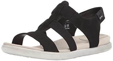 69575dd3a5 ECCO Women's Damara Elastic Gladiator Sandal, Black, 38 EU/7-7.5 M