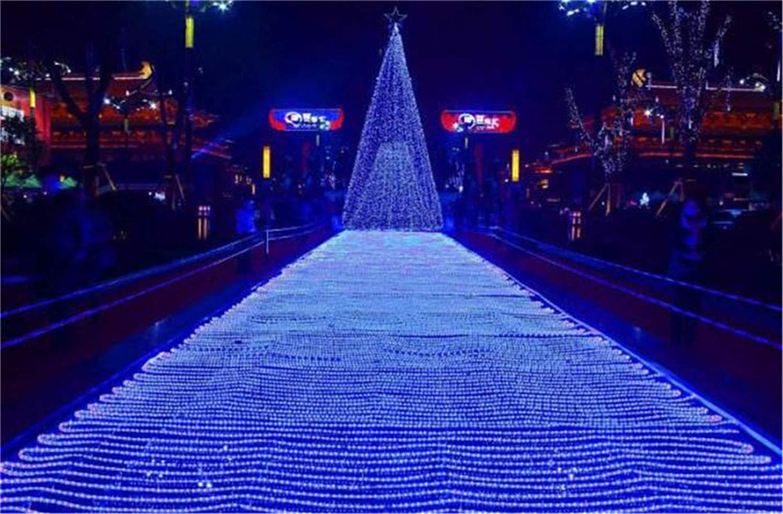 BABIFIS 6  4 M 880 Light LED Net Light Outdoor Impermeabile Decorazione Natalizia Luci LED, 3 Colorei