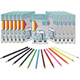 Colored Pencils Bulk by Madisi - Pre-Sharpened - 12 Packs of 12-Count - colored pencils for kids