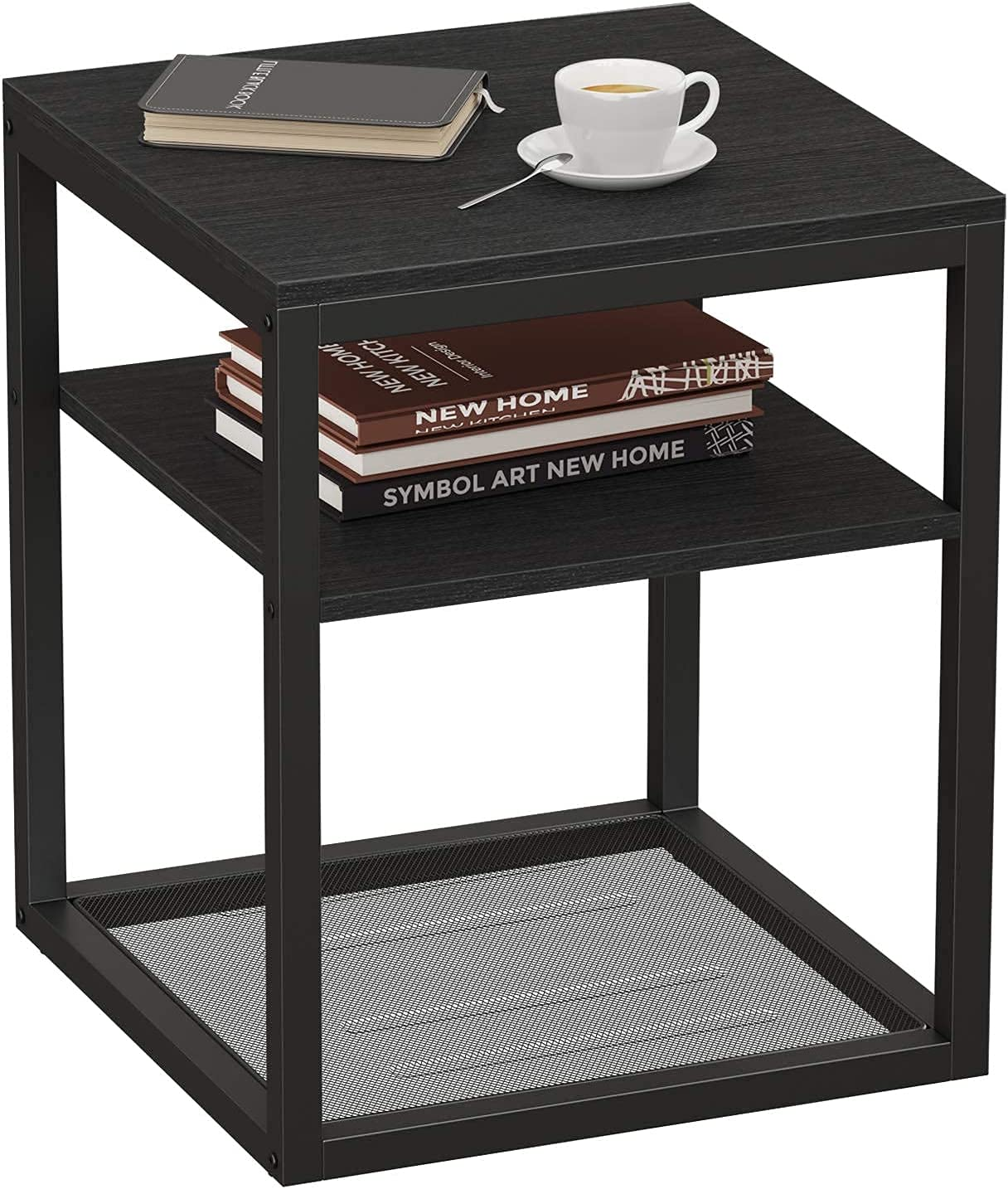 Black End Table - Bedroom Nightstands