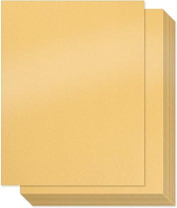 Amazon.com: Papel dorado brillante – 100 unidades de ...