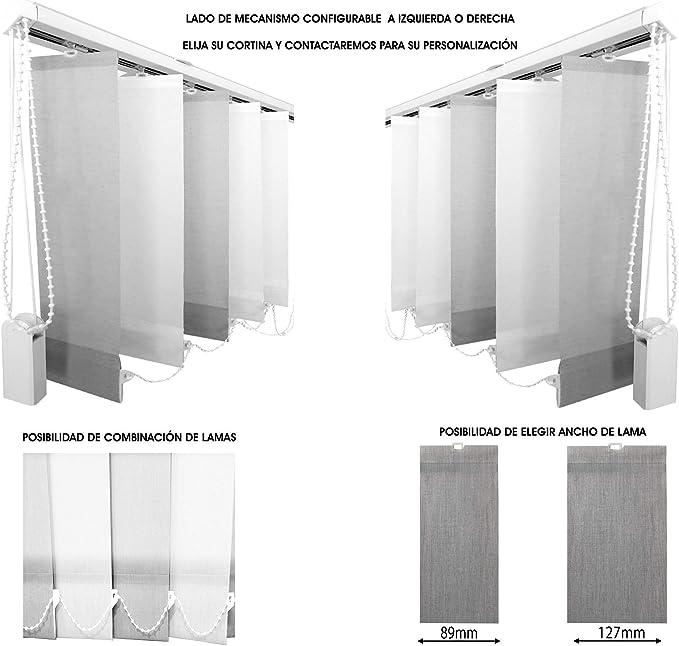 EB ESTORES BARATOS Cortina Lamas Verticales Translúcida Lumen/Gradúe la Entrada de luz. Medidas Ancho x Alto. Se la ajustamos a Medida. Color: Blanco. Medidas: 190cm x 220cm: Amazon.es: Hogar