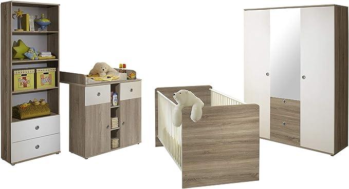 Ticaa Milu II - Juego de 4 Habitaciones para bebé, Color Blanco