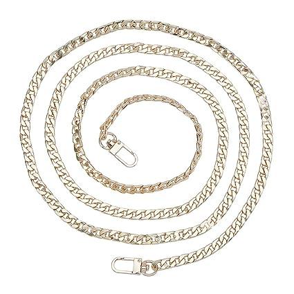 per borse a spalla e borse a mano Tracolla larga di ricambio con catena in metallo 139,7/cm lunga e con 0,8/cm di spessore