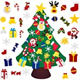 The Feelings DIY Felt Christmas Tree with 30pcs Ornaments, Xmas Gifts for Kids New Year Handmade Christmas Door Wall…