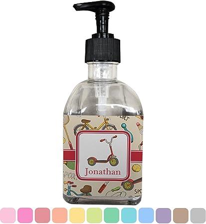 Vintage Sports jabón/dispensador de loción (cristal) (personalizado)