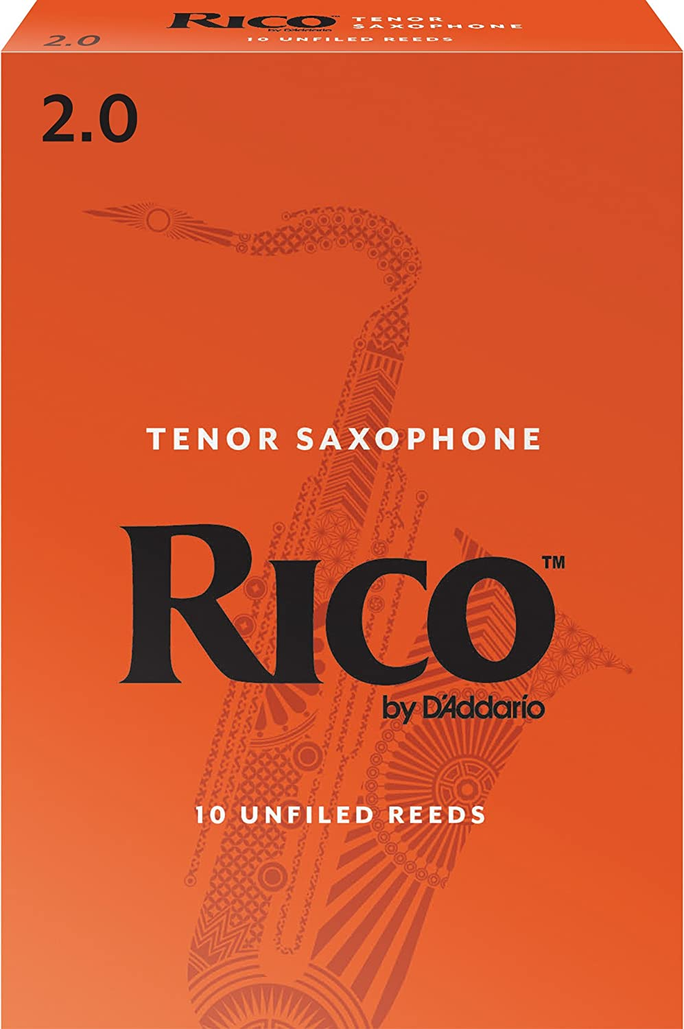 Rico by D'Addario RKA1025 Tenor Sax Reeds, Strength 2.5, 10-pack D'Addario &Co. Inc nats-9038843-12