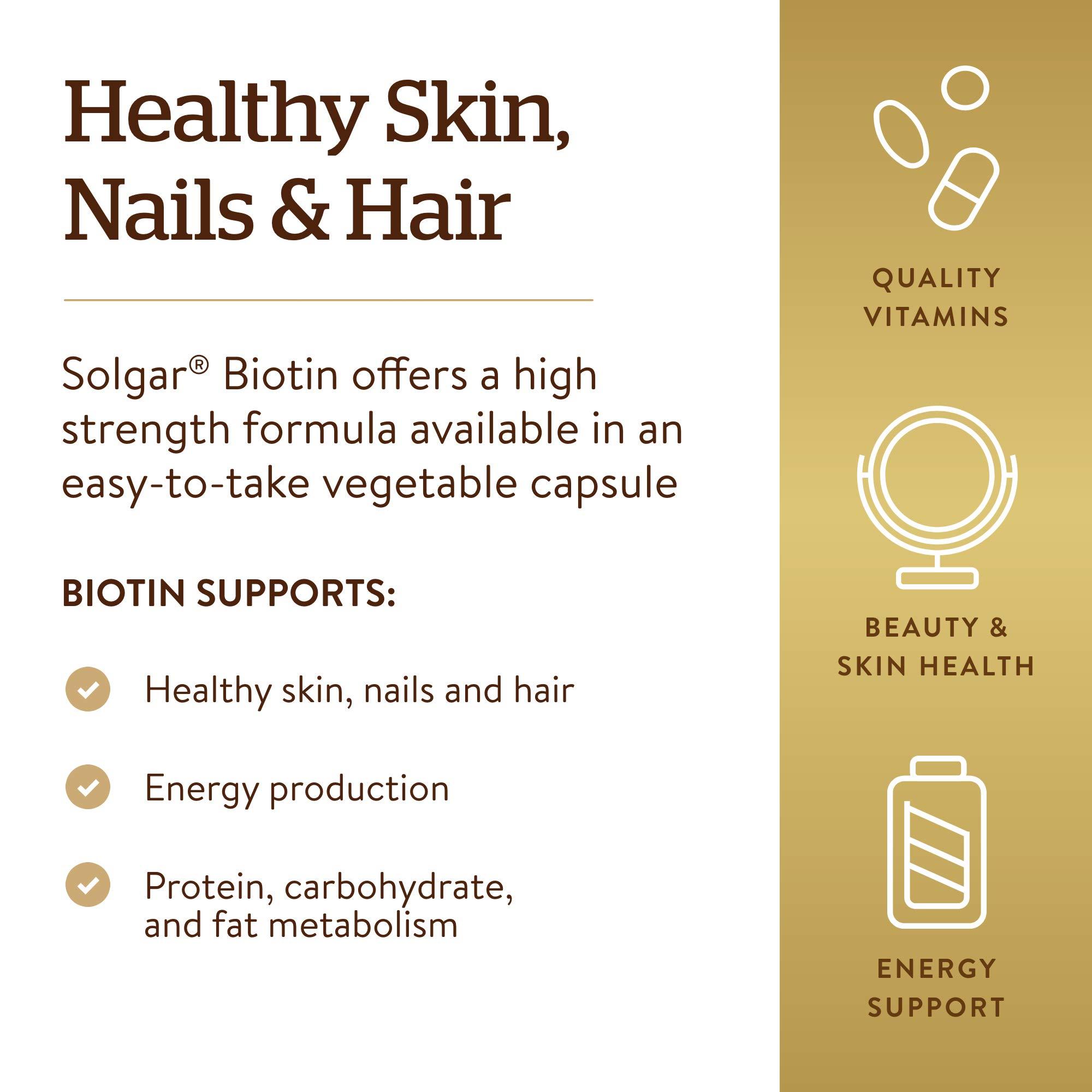 Solgar – Biotin 1,000 mcg, 250 Vegetable Capsules