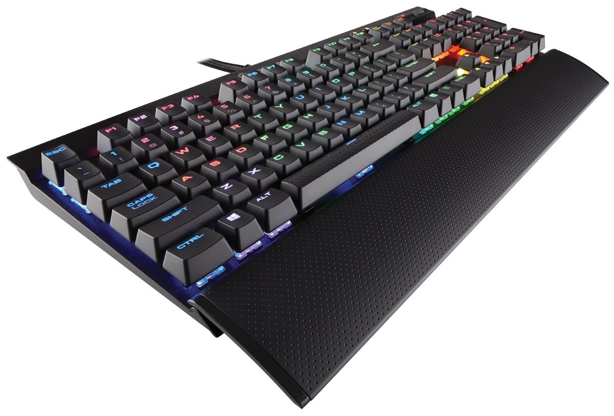 CORSAIR K70 LUX RGB RAPIDFIRE Mechanical Gaming Keyboard - USB Passthrough & Media Controls - Fastest & Linear - Cherry MX  Speed - RGB LED Backlit