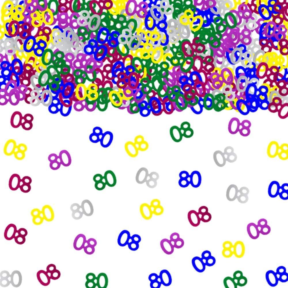 MULTI COLOUR BIRTHDAY CONFETTI AGE 40 TABLE CARD DECORATIONS 40TH
