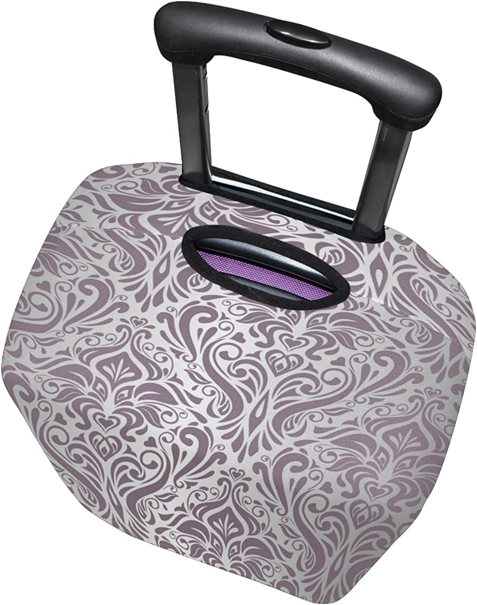 LAVOVO Vintage Pink Silver Luggage Cover Suitcase Protector Carry On Covers