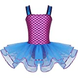 vastwit Little Girls Sequins Mermaid Costume Ballet Dance Leotard Tutu Skirts Gymnastics Ballerina Dress Activewear