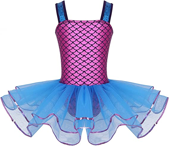 IEFIEL Disfraz Bailarina de Ballet Niña Disfraz Sirena Princesa ...