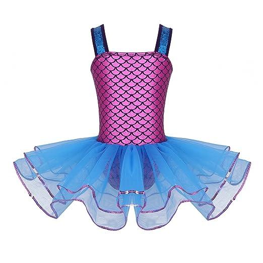 bc7f06738 Amazon.com  iEFiEL Girls Sequin Mermaid Ballet Tutu Dress Kids ...