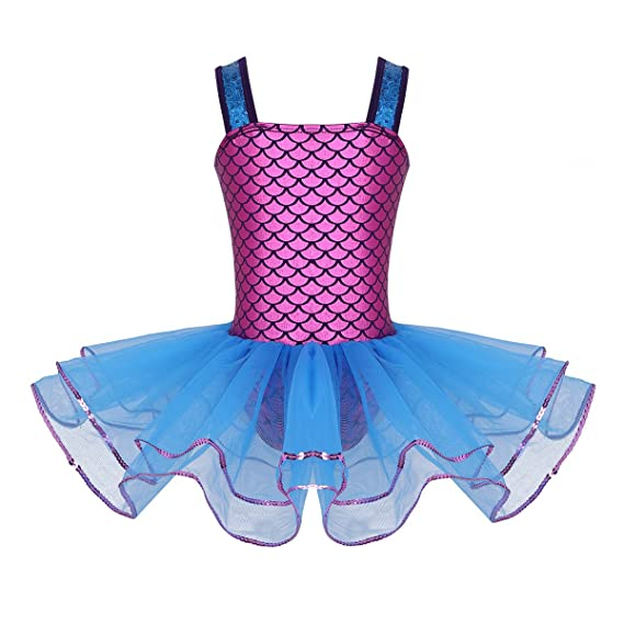 YiZYiF Vestido Maillot Tutú Danza Ballet para Niñas Disfraz ...