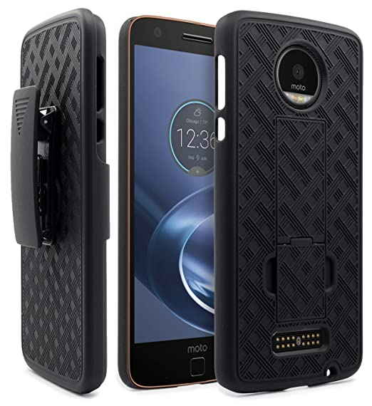 free shipping 62e4b 47e8e Moto Z Case, Moto Z Droid Holster Case, NageBee Shell Holster Combo  Protective Case with Kick-Stand Belt Clip Holster for Moto Z Droid ONLY!!!  [!!!NOT ...