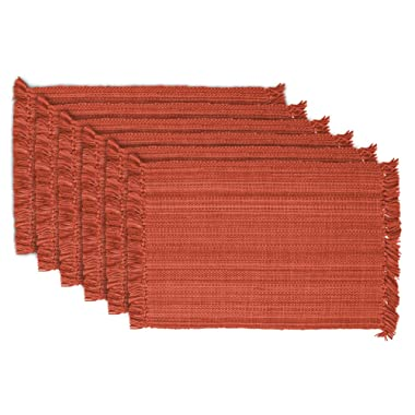 DII Tonal Fringe Placemat, Set of 6, Variegated Spice - Perfect for Fall, Thanksgiving, Dinner Parties, Weddings, and Everyday Use
